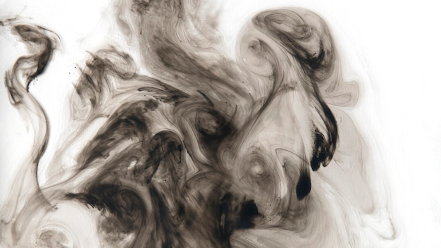 Abstract black watercolor patterned background