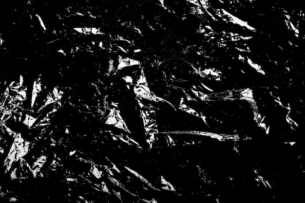 Abstract black and white background. polyethylene