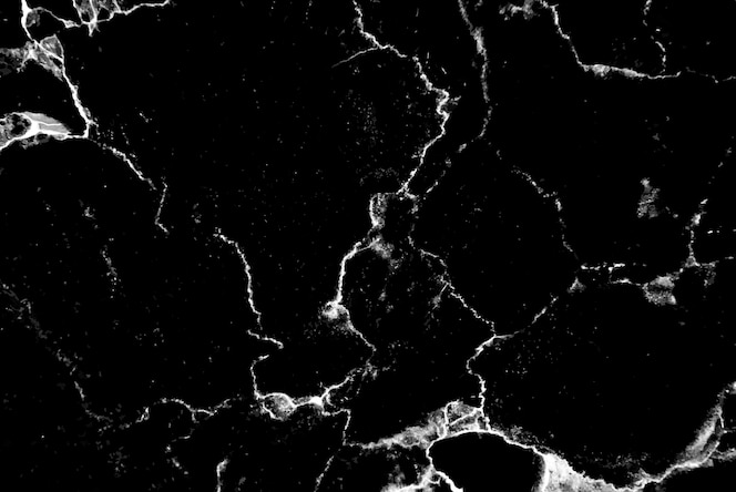 Abstract black and white marble textured background