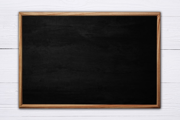Abstract blackboard or chalkboard with wooden frame