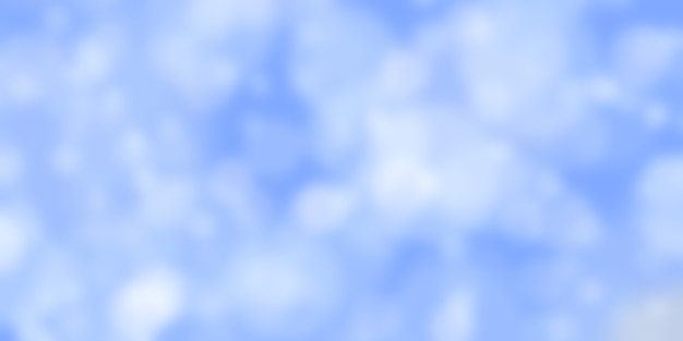Abstract blue background with bokeh effect blurred defocused lights in white colors