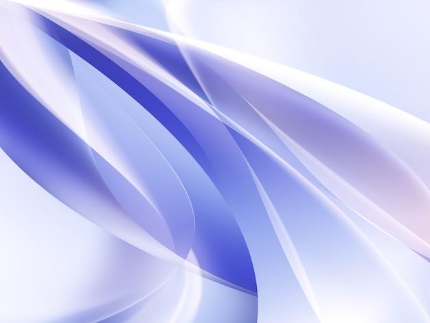 滑らかな白い線で抽象的な青い背景