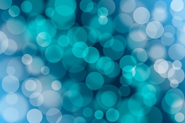 Абстрактный синий фон боке. белый и синий фон градиент.