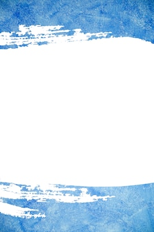 Abstract blue color paint. blue brush stroke background and frame.