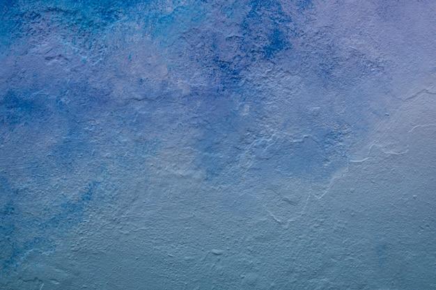 Абстрактный синий тон окрашенной стены