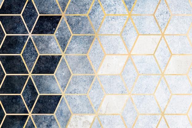 抽象的な青い立方パターン