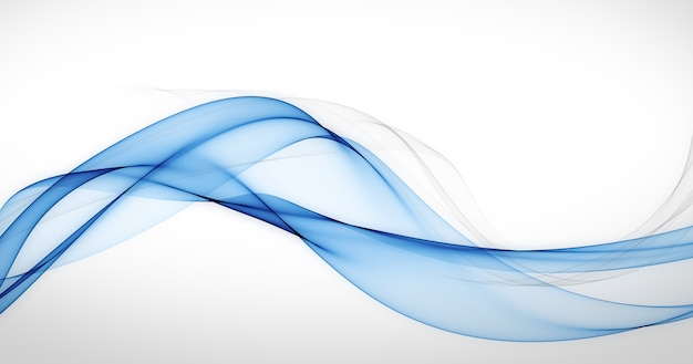 Abstract blue flowing lines background