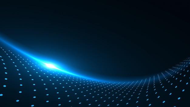 Абстрактные синие футуристические точки