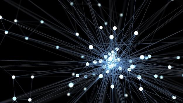 抽象的な青い未来の技術ネットワークノード