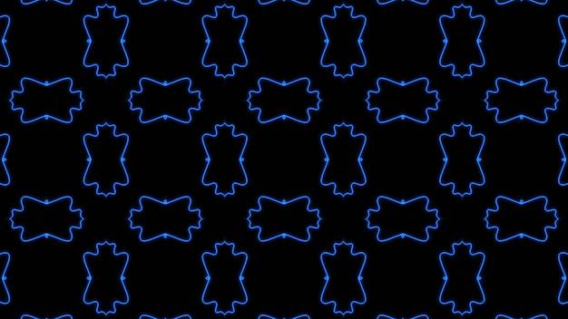 Abstract blue geometric seamless pattern background premium photo