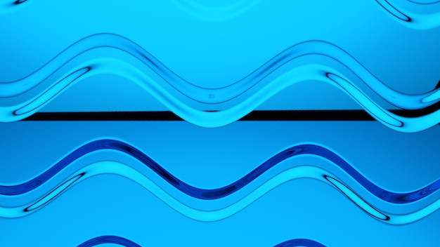 Abstract blue glass background 3d rendering