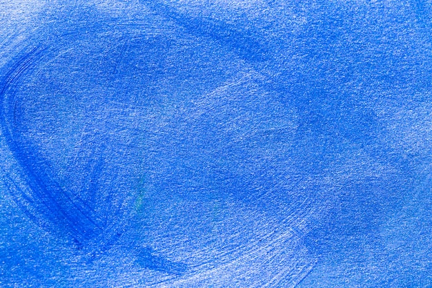 Abstract blue hand drawn acrylic painting background