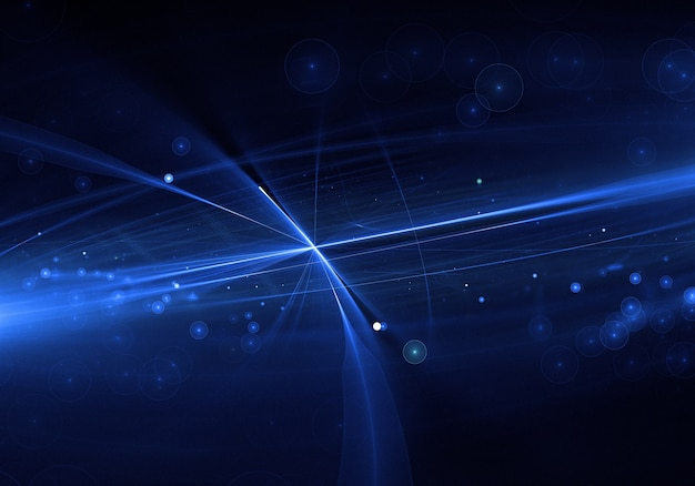 Abstract blue lens flare background