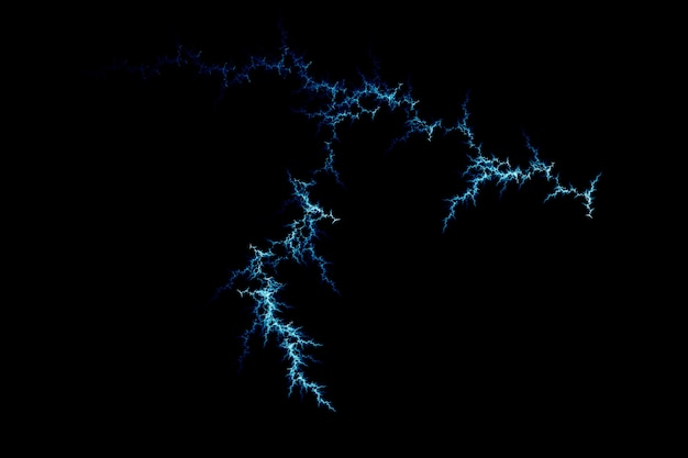 Abstract blue lightning design