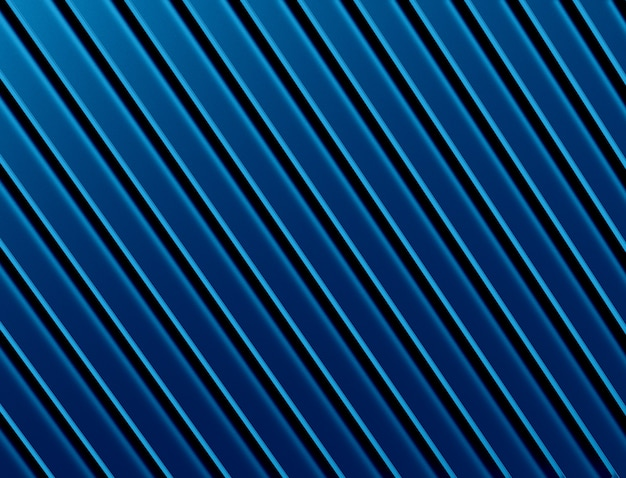 The abstract blue metal background. 3d illustration.