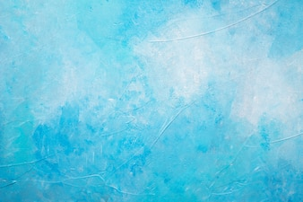 Abstract blue painted textured background