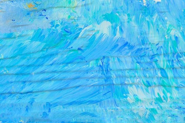 抽象的な青い塗られた壁