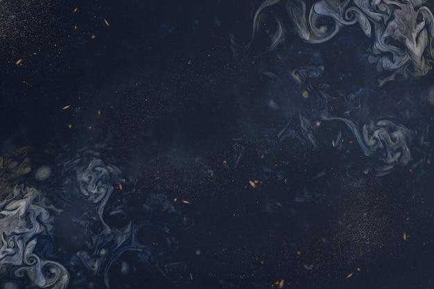 Абстрактная синяя живопись