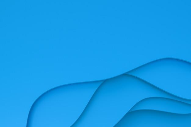 Абстрактный синий фон искусства вырезать из бумаги
