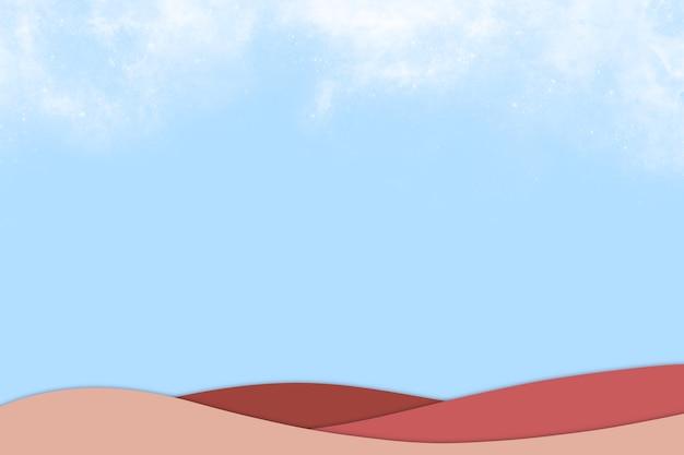 背景の小さな雲のテンプレートと抽象的な青い空