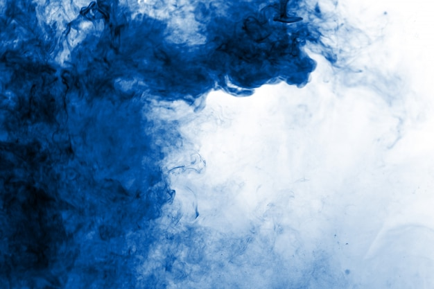 Abstract blue smoke flowed background
