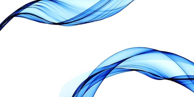Sfondo astratto blu linee morbide