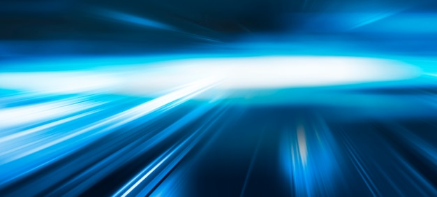 Abstract blue speed movement background