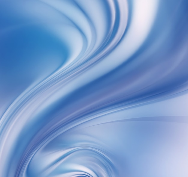 Abstract blue tornado on white as background