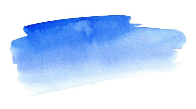 白い背景の上の抽象的な青い水彩スプラッシュストローク