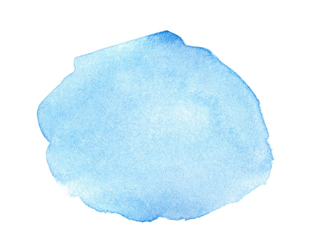 Abstract blue watercolor on white background. watercolor clipart for text or logo