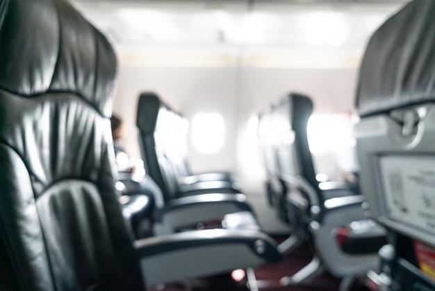 추상 흐림 비행기 좌석
