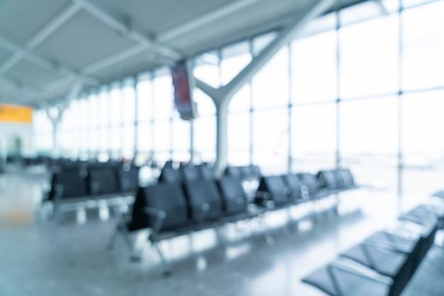 抽象的なぼかしと多重空港ターミナルインテリア