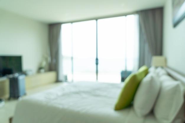 Абстрактное размытие и расфокусировка интерьера спальни