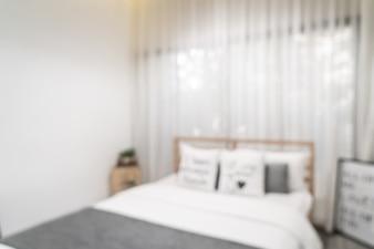抽象的なぼかしと多重寝室のインテリア