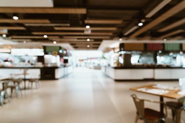 쇼핑몰에서 추상 흐림 및 defocused 푸드 코트 센터