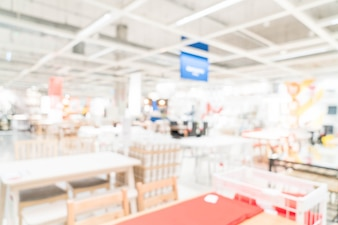 Abstract blur and defocused furniture decoration interior shopping store