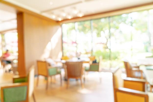 Абстрактное размытие и расфокусированный ресторан отеля для фона