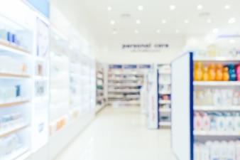 Abstract blur and defocused pharmacy and drug store