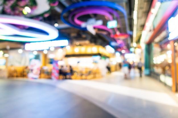 Абстрактные размытия и расфокусированным торговый центр и интерьер магазина универмага, размытый фон фото