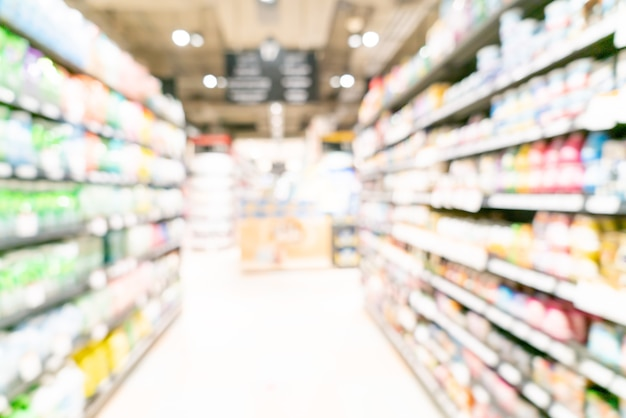 추상 흐림 및 배경 defocused 슈퍼마켓