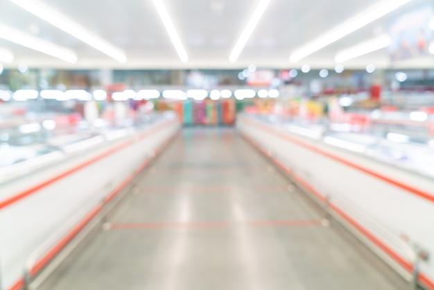 배경에 대한 추상 흐림 및 defocused 슈퍼마켓