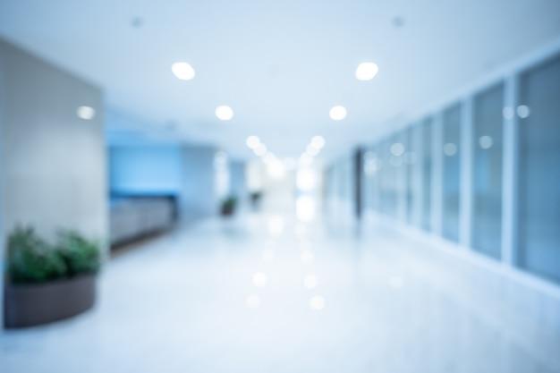 Интерьер абстрактной нерезкости красивый роскошный больницы и клиники для предпосылки
