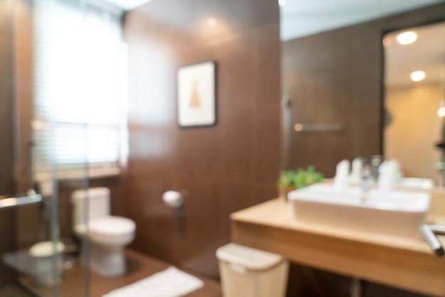 배경에 대 한 추상 흐림 아름다운 고급 호텔 욕실 인테리어