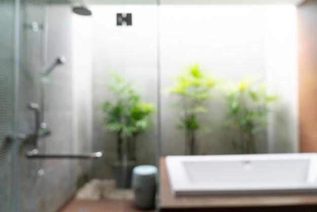 抽象ぼかし美しい高級ホテルのバスルームのインテリア