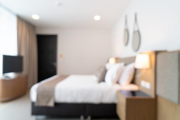 배경에 대 한 추상 흐림 아름다운 고급 호텔 침실 인테리어