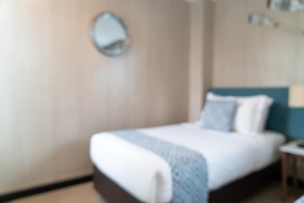 Абстрактное размытие красивый роскошный интерьер спальни отеля для