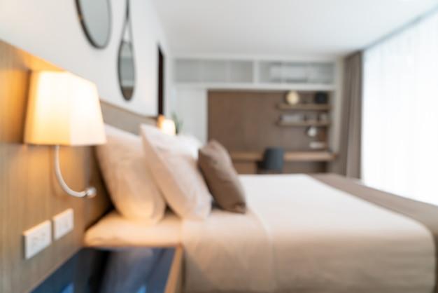 Abstract blur beautiful luxury hotel bedroom interior