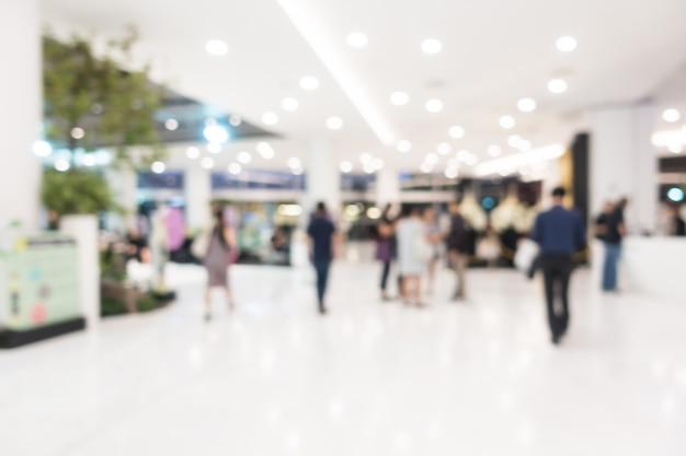추상 흐림 아름다운 고급 쇼핑몰 및 소매점