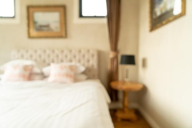Абстрактный размытие интерьера спальни для
