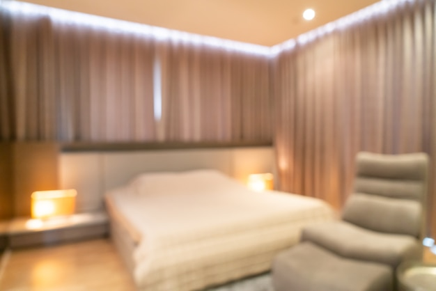 Abstract blur bedroom interior for